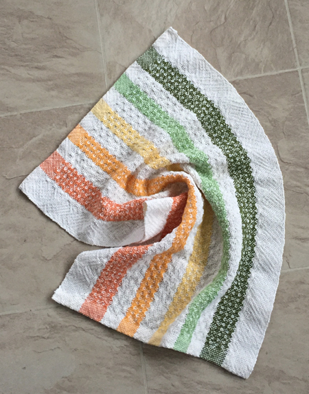 white weft towel, all over huck