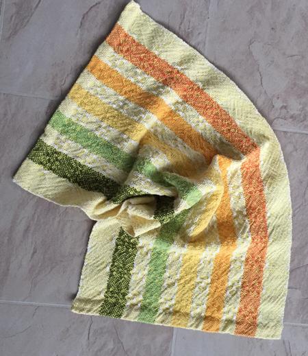 yellow weft towel, alternate huck