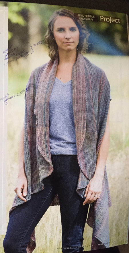 circle shawl from Handwoven magazine