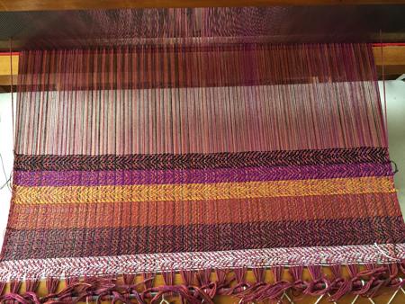 auditioning shawl wefts