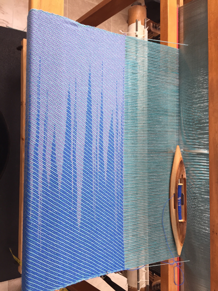 skirt fabric on the loom