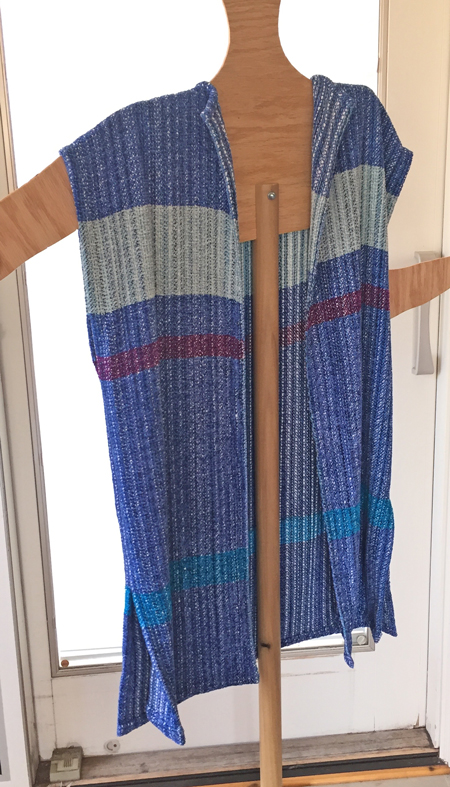 handwoven long vest