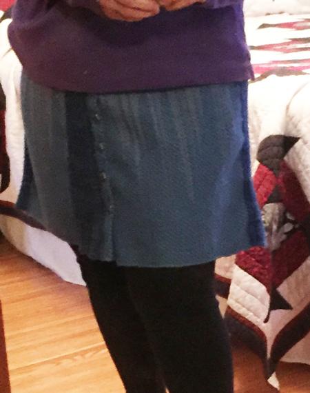wearing my hand made skirt