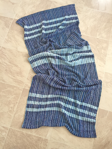 handwoven long striped shawl