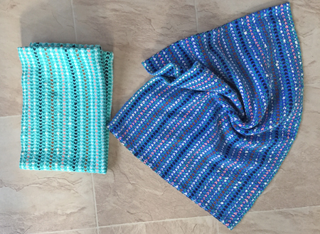 2 handwoven thick towels