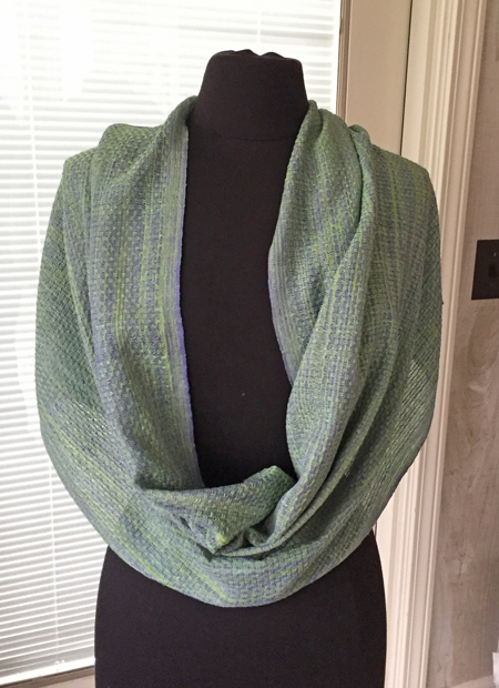 handwoven silk lace cowl, long