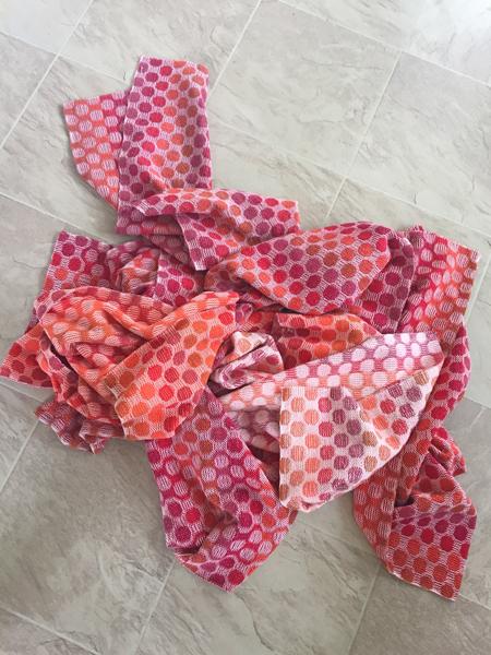 polka dot towels