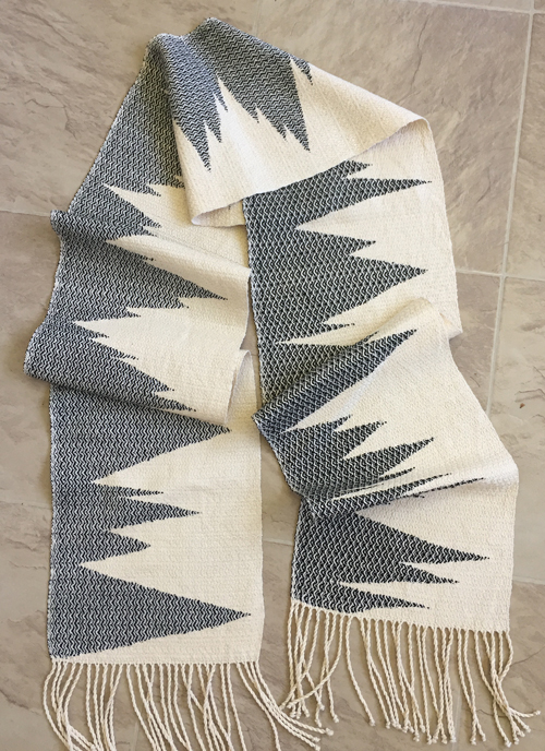 silk clasped weft scarf