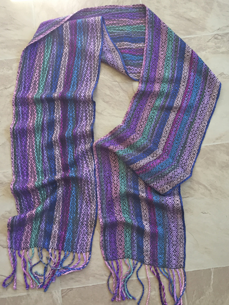 multicolored handwoven scarf