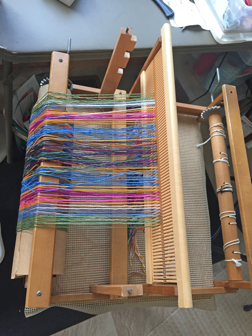 rigid heddle loom threaded