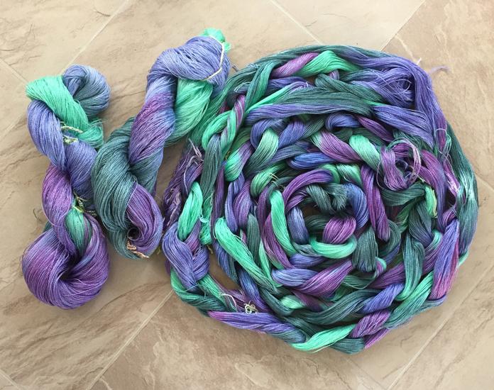 8-2 tencel hand dyed in gemtones