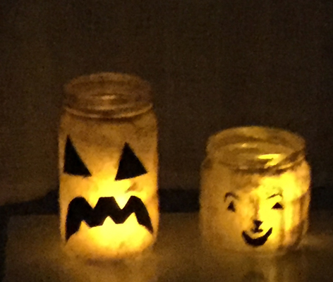 jar pumpkin luminaries