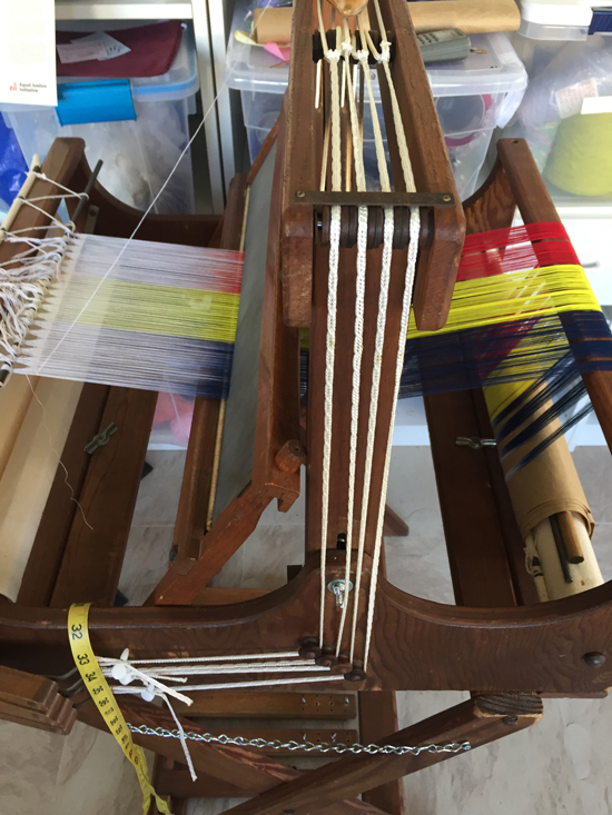 Missouri loom prepared for workshop