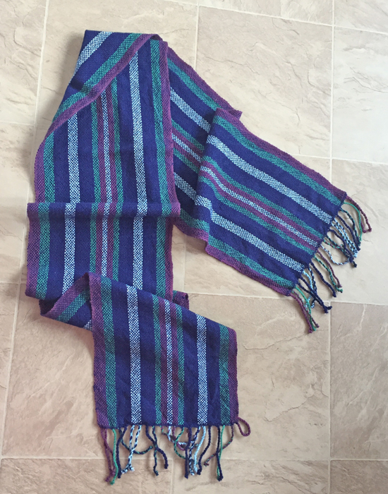 handwoven scarf, stripes