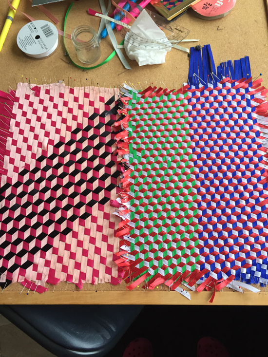 triaxial ribbon weaving begun