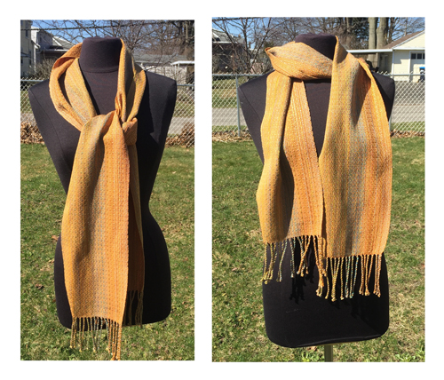handwoven Gold Dreams Golden scarves