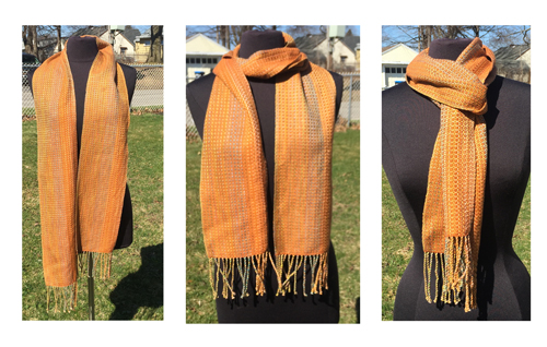 handwoven Gold Dreams Sienna scarf