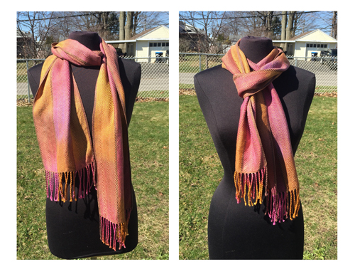 handwoven Gold Honey Berries scarf