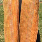handwoven Gold Dreams cotton scarf