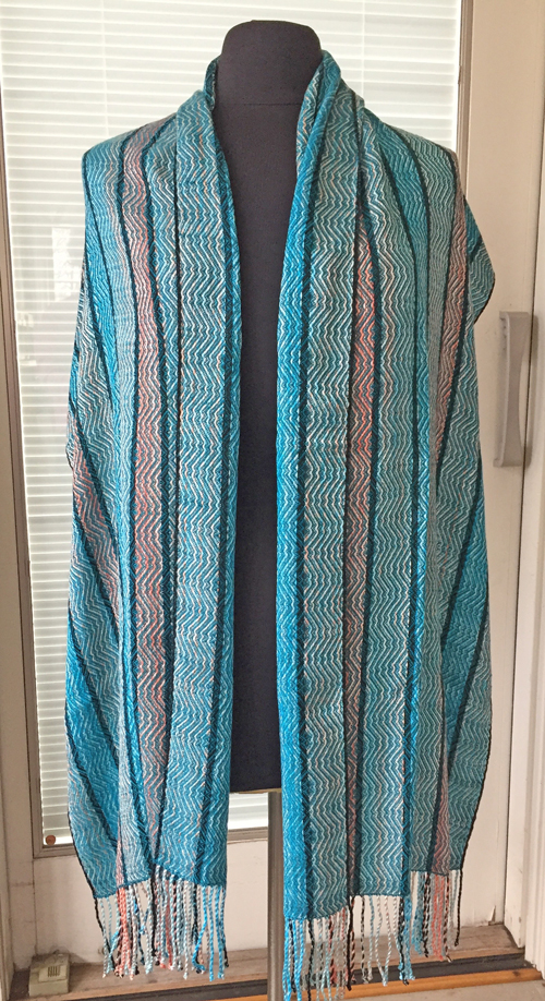 handwoven Raw Turquoise wrap
