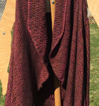 handwoven Red Clay open front cardigan