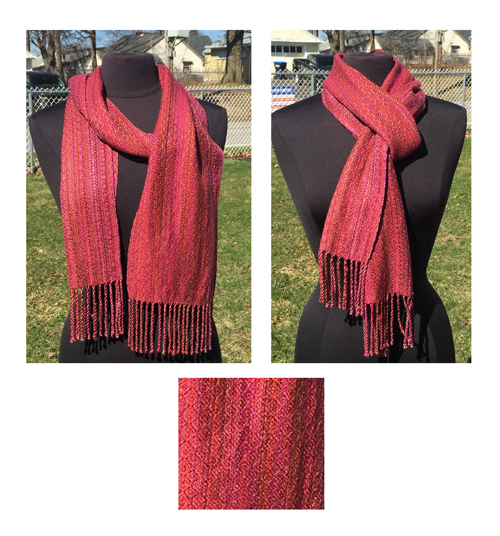 handwoven sunset diamonds scarf