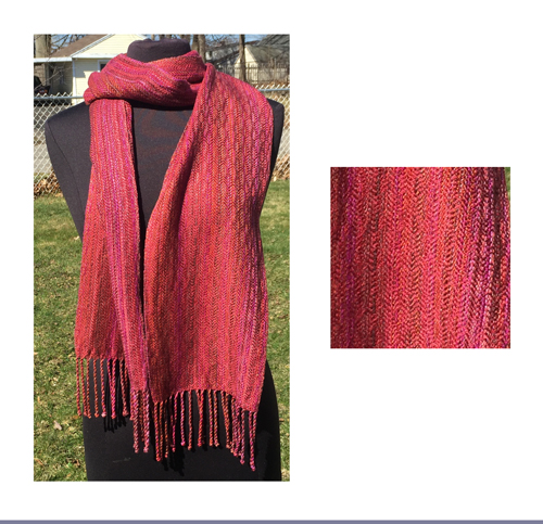handwoven sunset feathers scarf