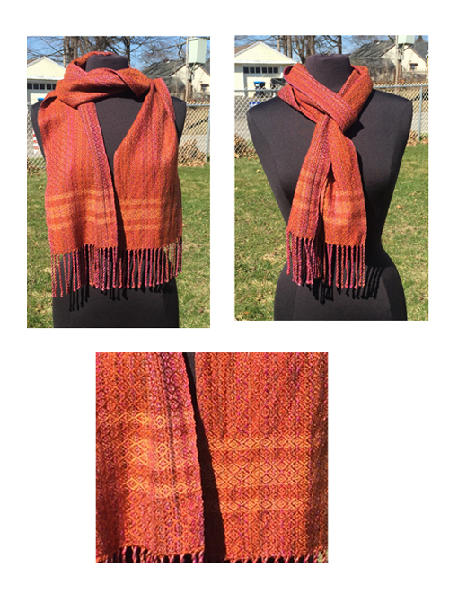 handwoven golden sunset scarf