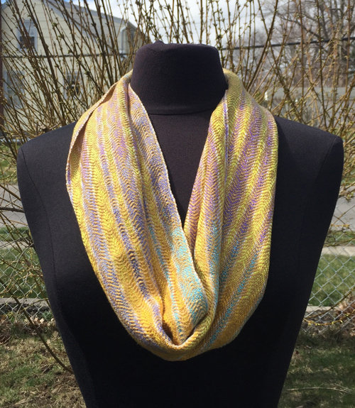handwoven Golden Tones cowl