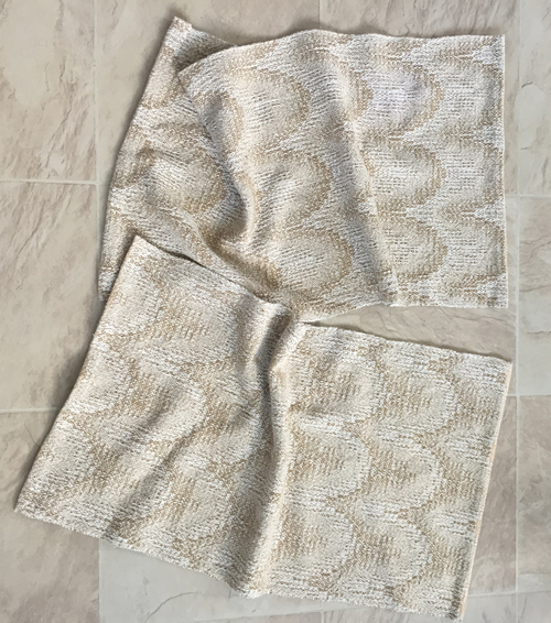 2 handwoven towels - Oatmeal & Brown Sugar
