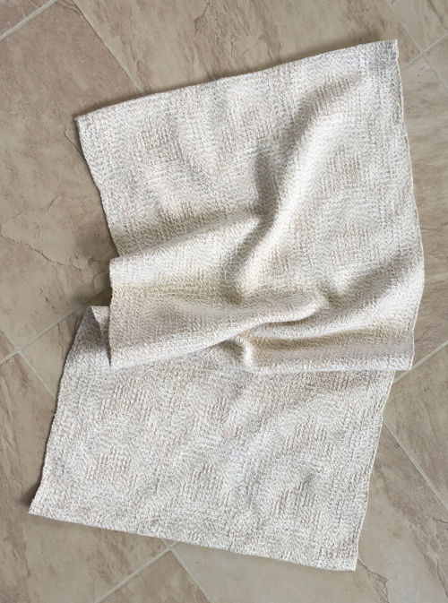 handwoven Oatmeal & Cream towel