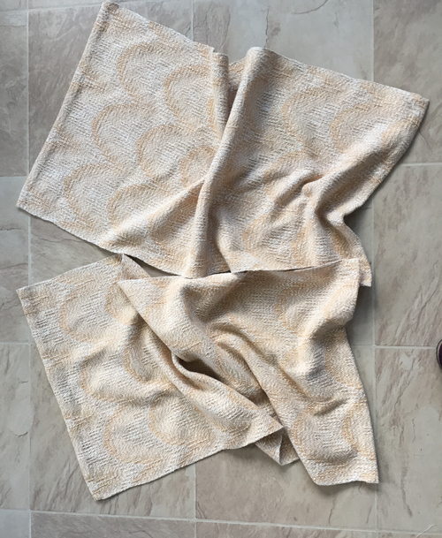 2 handwoven towels - Oatmeal & Honey