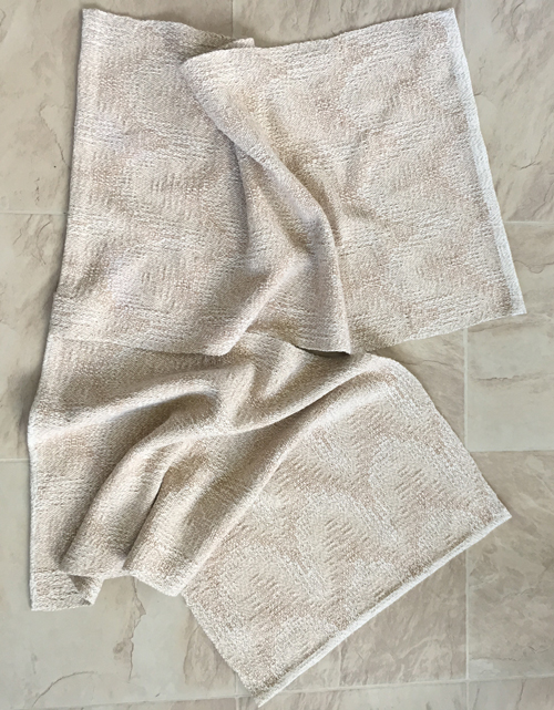 2 handwoven towels - Plain Oatmeal