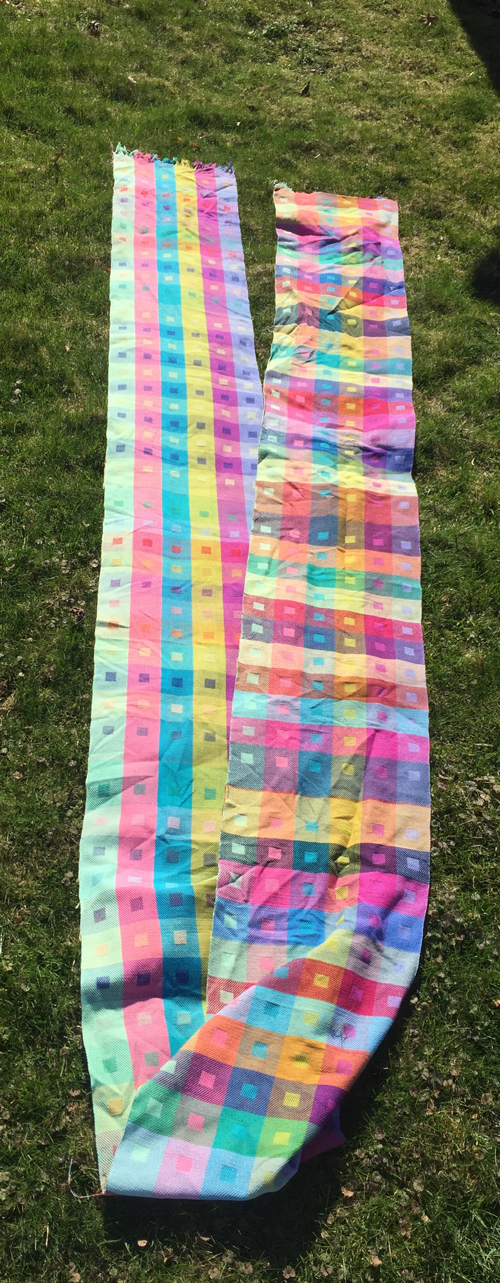 handwoven multicolored towels