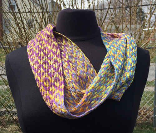 handwoven Spring Blooms cowl