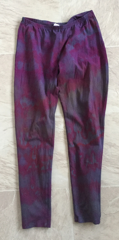 3rd try dyeing the leggings