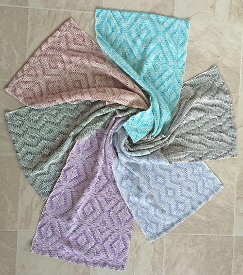 6 crackle towels