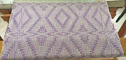 handwoven mauve 'crackle' towel