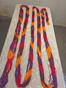 handpainted silk warp 1