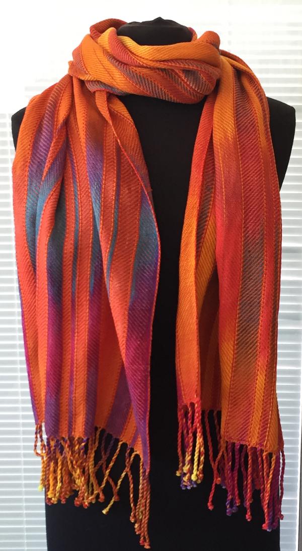 sunrise sunset shawl wrapped around
