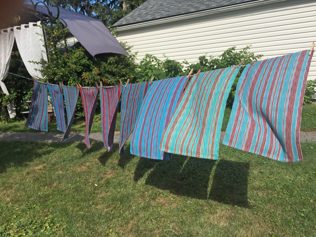 Fibonacci towels on the line
