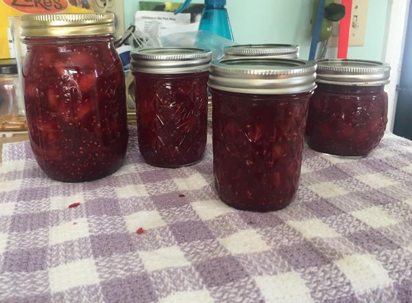 raspberrry-peach jam