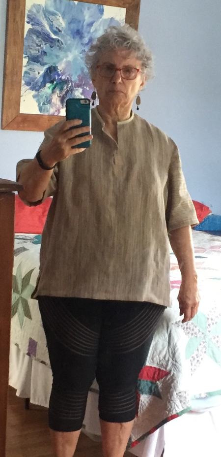 handwoven tunic from front
