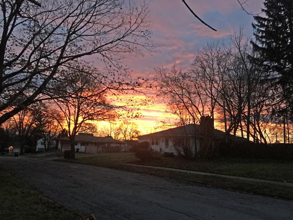 Christmas Eve sunrise