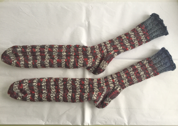knitted striped socks for Chuck