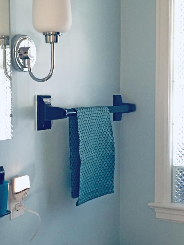 handwoven towel in my bathroom