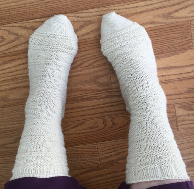 hand knit gansey socks