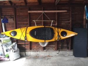 kayak in my garage