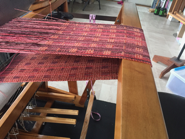 fires everywhere scarves on the loom