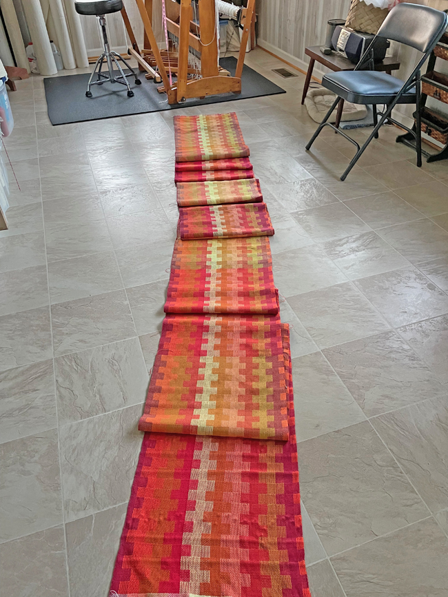 Autumn Beauty towels just off the loom